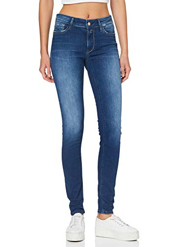 Replay Damen LUZIEN Jeans, 007 Dark Blue, 3232