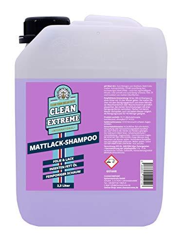 CLEANEXTREME Mattlack Autoshampoo Konzentrat 2,3 Liter - Auto Shampoo zum Reinigen von Autolack matt, Matt-Folie, Autosprühfolie