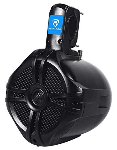 """Pair Rockville RWB65B 6.5"""" Black 2 Way 500 Watt Marine Wakeboard Tower Speakers"""
