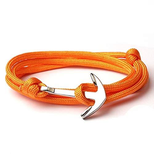 Nueva pulsera azul marino hombres Amistad ancla pulsera hecha a mano multi-capa cuerda de nylon cadena hombres y mujeres joyería