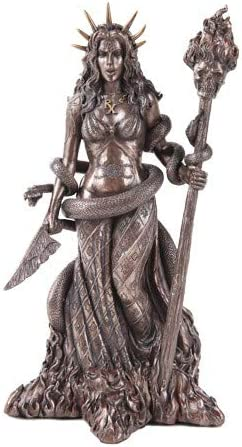 5 popular Greek Witchcraft Pagan Hecate Bronze Patina Statue Colorado Springs Mall