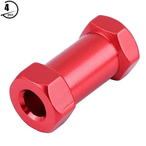 Dilwe RC Hex Adapter, 4 Stücke Metall Radnaben Adapter für D90 AX10 CC01 SCX10 F350 Fernbedienung Crawler