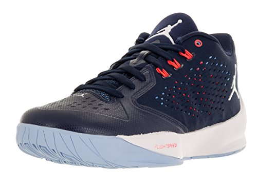 Nike Herren Jordan Rising Hi-Low Basketballschuhe, Azul Marino (Mid NVY/White-Ic Bl-Unvrsty Bl), 45 EU