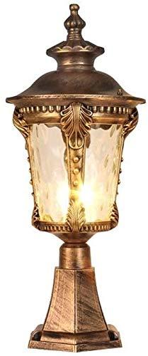 Popertr IP55 Impermeable Victoria Retro Linterna Retro Linterna Lámpara de Columna E27 Lámparas de Pilar de Metal Aluminio Lámparas Patio Al Aire Libre Decoración Post Light Finxture Vintage Lámparas