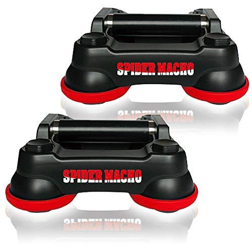 浮く筋トレ 腹筋ローラー スパイダーマッチョ 回転 全方向 手足両用 アブローラー 懸垂 プッシュアップ (レッド)