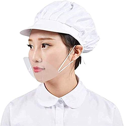 Tankaa (10 Stück durchsichtiger offener Mund, wiederverwendbar, Hygieneschutz, Mundmundabdeckung für Restaurant, Tätowierungs-Make-up, Catering (Farbe: 10 Stück)