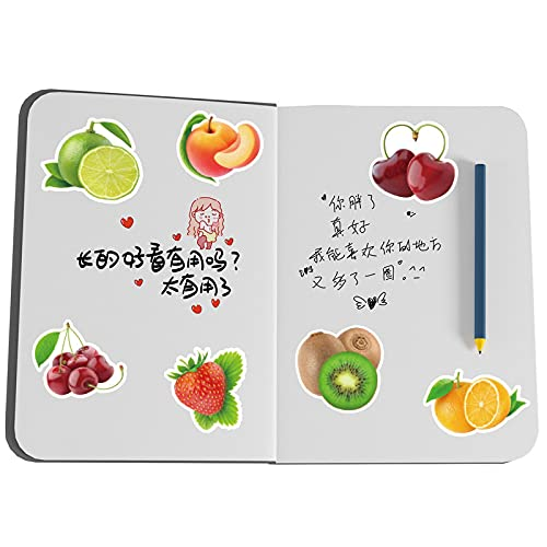 MBGM 50 pegatinas de frutas de dibujos animados para niños pegatinas de recompensa papelería taza de agua portátil equipaje impermeable pegatinas decorativas