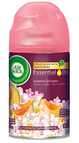 Air Wick Pure Freshmatic Refill Automatic Spray, Summer Delights, 1ct, Air Freshener, Essential Oil, Odor Neutralization, Packaging May Vary