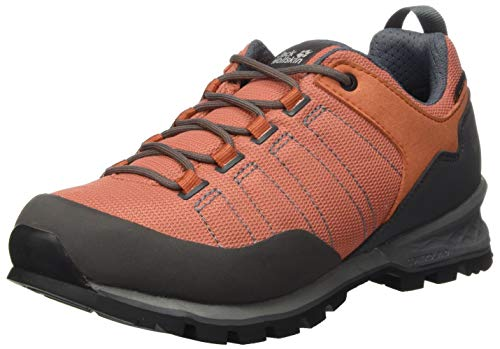 Jack Wolfskin Damen Scrambler LITE Texapore Low W Outdoorschuhe, Copper/Grey, 39.5 EU