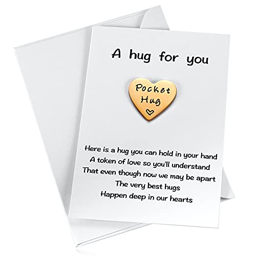 MIXJOY Little Heart Pocket Hug Token Keepsake for Friends Colleagues Family Social Distancing Gifts During Lockdown