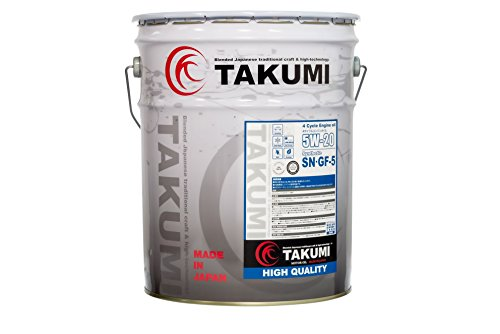 TAKUMIモーターオイル エンジンオイル 5W-20 SN/GF-5 20L 4輪ガソリン車専用 化学合成油 街乗り