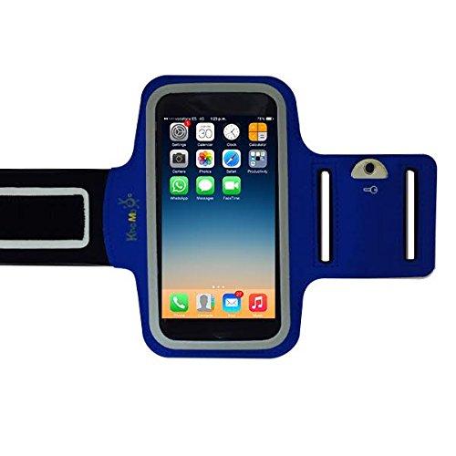 KHOMO APP-IPH-6S-ARMBAND-BLU-ES Funda para teléfono móvil 11,9 cm (4.7') Brazalete Caso Azul - Mobile Phone Cases (Armband Case, Apple, iPhone 6/6s, 11,9 cm (4.7'), Azul)