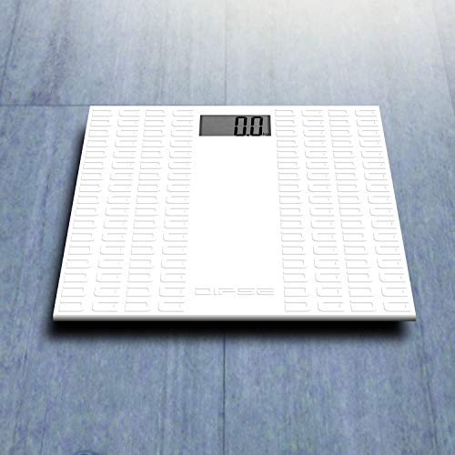 DIPSE 1500 - Bilancia pesapersone digitale a ultrasuoni BAS150, 150 kg/0, 1 kg, con copertura in silicone antiscivolo e antimicrobico, display LCD