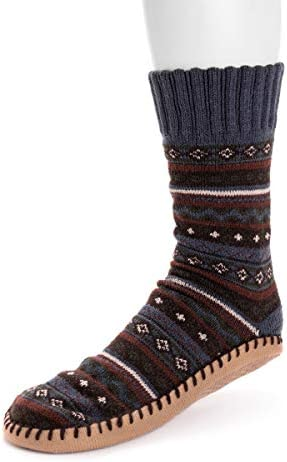 Muk Luks Men s Slipper Socks Dark Sapphire Small Medium product image