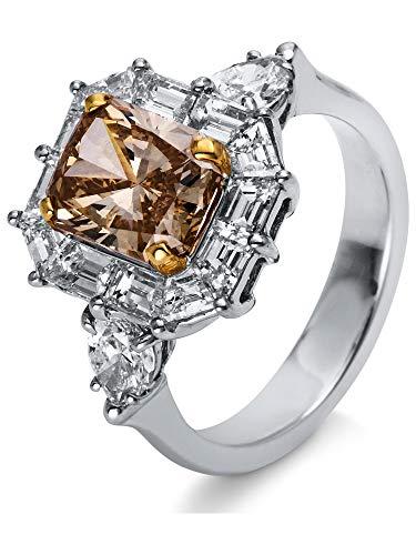 Luna Creation Sensational Ring Illusion 1M508W853-1 - Ringweite: 53 aus 750 Weißgold mit 13 Diamanten (4.05 Karat)
