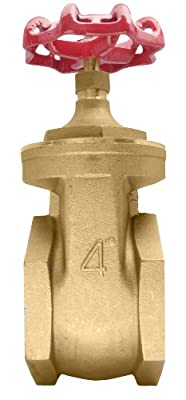 "4"" Brass Gate Valve - 200WOG, FxF NPT from DuraChoice"