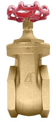 """4"""" Brass Gate Valve - 200WOG, FxF NPT from DuraChoice"""