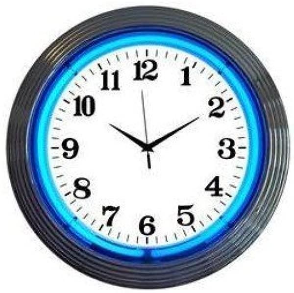 15 Inch Neon Custom Photo Wall Clock Add Any Photo Free