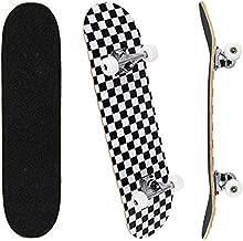 Jaoul Cruiser Skateboards for Beginners Complete Maple Skateboard 31 Inch for Girls Boys Youth Adults Kids Double Kick Standard Skateboard