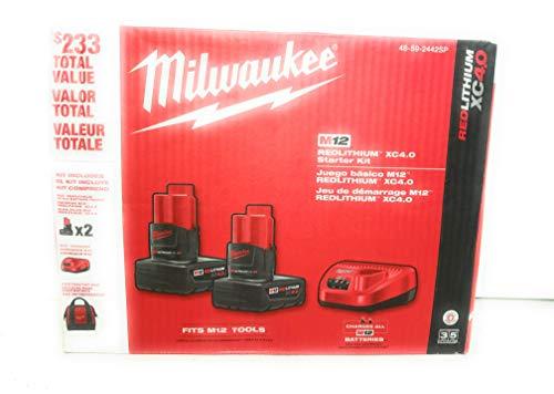 Milwaukee M12 RedLithium XC4.0 Kit de inicio (48-59-2442SP)