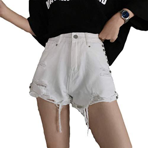 Fainash Pantalones Cortos de Mezclilla Rasgados para Mujer Pantalones Cortos de Mezclilla Casuales con Bolsillos XL