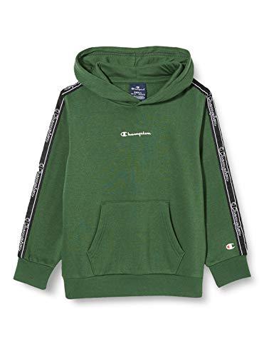 Champion Boys' Seasonal Tape Hooded Sweatshirt Sudadera con Capucha, Verde (GS561), X-Small para Niños