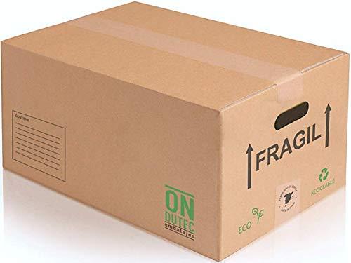 Pack 20 Cajas Carton Mudanza Grandes 430x300x250 - Cajas Carton Baratas -...