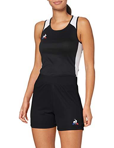 Le Coq Sportif N° 1 Short Match W Femme, Noir, XL