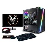 Fierce RGB Gaming PC Bundle - AMD Ryzen 3 3200G 4GHz, AMD Vega