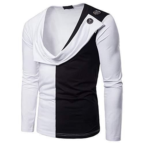 Kapuzenpullover Freizeit Und Komfort Zwei Gefälschte Zweifarbig Langärmelige T-Shirt Pullover Weiß M