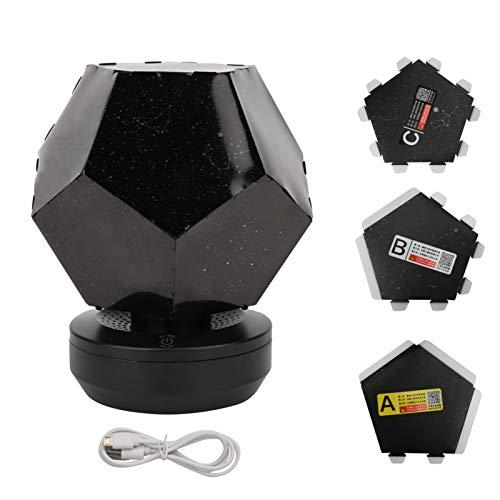 Kuuleyn Luz de proyección de Fiesta, lámpara de Noche de Ambiente de Estrella LED, Regalo de luz de proyección USB para decoración de Fiesta de Dormitorio de bebé