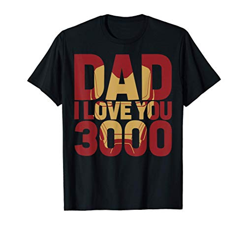 Marvel Iron Man Dad I Love You 3000 Text Fill Father's Day Maglietta
