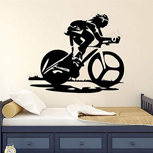 Dongwall Fahrrad Rennen Wanddekoration Vinyl Kunst entfernbares Plakat Fahrrad Sport Junge Zimmer Wandbild Wandaufkleber aktive Sport Aufkleber