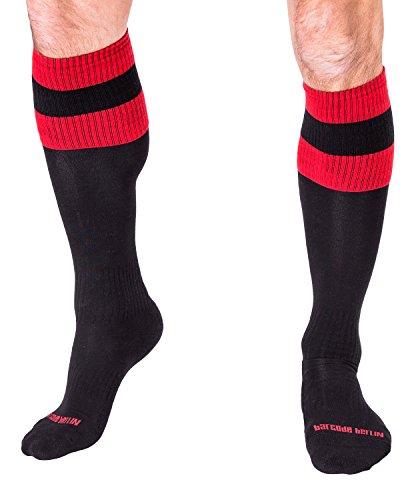 Barcode Berlin Socken schwarz-rot Größe S/M