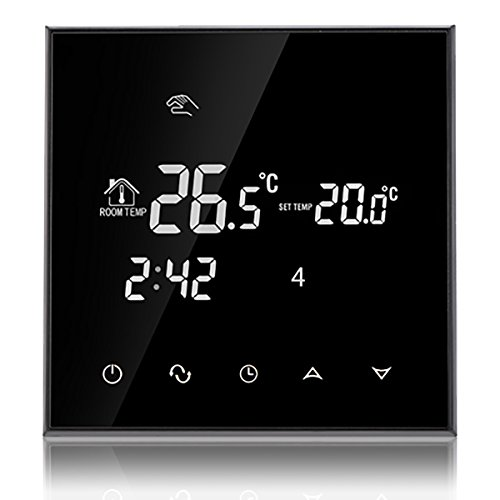 Beok TGT70-WP Programmierbare Fußbodenheizung Wassererwärmung Thermostat LCD Bildschirm Smart Raum Temperatur Controller, AC220V 50/60HZ 3A