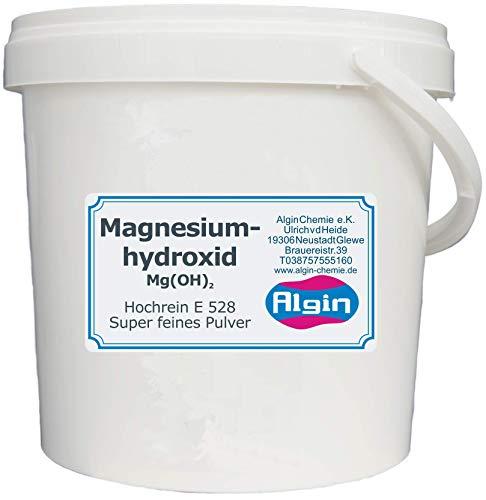 Magnesiumhydroxid reinst 2,5 l Eimer = 2 kg E528 Säureregulator/Trennmittel/Speiseölzusatz/Neutralisierung der Magensäure/mildes Abführmittel