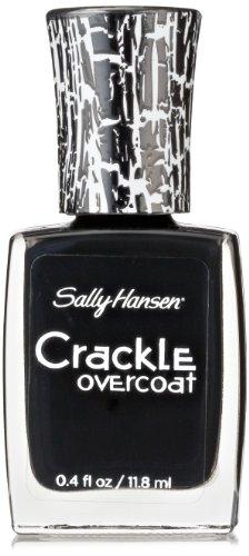 Sally Hansen Crackle Overcoat Nail Polish, Ink Splatter, 0.4 Fluid Ounce