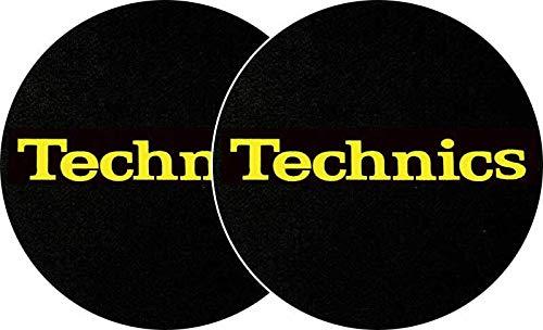 Magma de Factory Technics Texto Amarillo Slipmat, 2unidades)