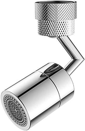 Grifo de filtro de salpicaduras universal,grifo de salida de agua giratorio de 720 ° Cabezal de Grifo de Burbuja de Cocina con Filtro de Red de 4 Capas para grifo de 22 mm-24 mm de diámetro