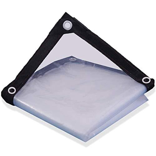 FOGUO Lona Impermeable Transparente Exterior4x9m, Lona Transparente para Invernadero, Lona De Proteccion Transparente, Toldo Reforzado Gramaje 120 Grs, Resistente A La Intemperie