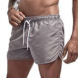 JURTEE Hombre Pantalones Cortos de Playa Secado Rápido Bañador Estampado Beach Shorts Sólido de Color Surf...