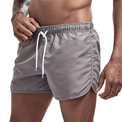 Tyoby Jogginghose Kurze Hosen Herren Sommer Sport Shorts Schnelltrocknend Casual Strand Hose Oversized Sporthose Outdoors Running Hose Laufhose mit Kordelzug Plus Size