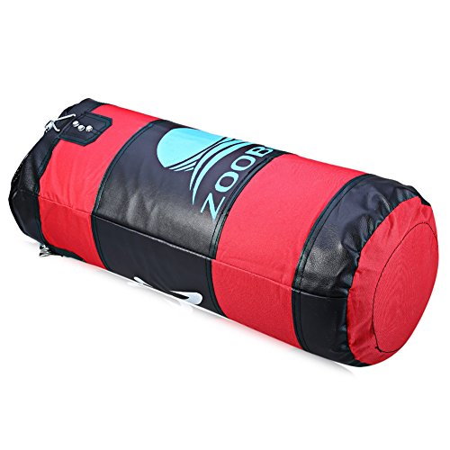 Najer Heavy Punching Bag,Four-Layer Thick Oxford Cloth Workout sandbags Focus Bag with Chain Hollow for Taekwondo, Boxing,Training,Fitness,Sandbag,Swordplay,Martial Arts(Empty,Red)