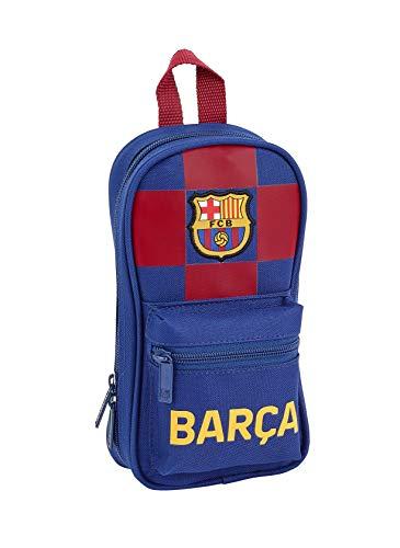 Safta Trousse de Toilette avec 4 étuis FC Barcelona 1a Equip. 19/20 Officiel, 120 x 50 x 230 mm