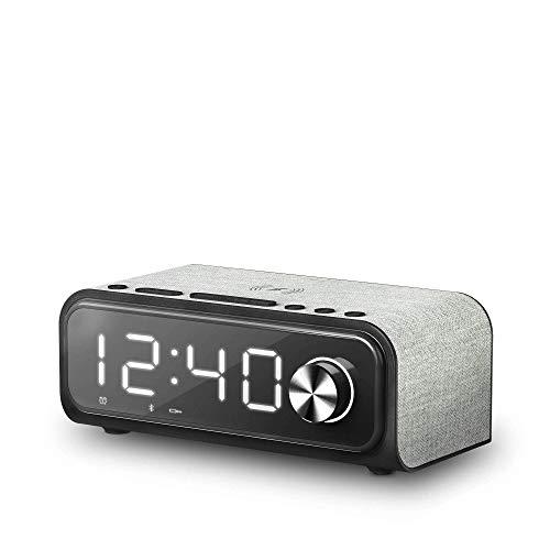 Energy Sistem Clock Speaker 4 Wireless Charge Altavoz portátil con Bluetooth (Dual...
