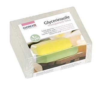 Glorex 6 1600 - Jabón de glicerina ecológico, Transparente, 500 g