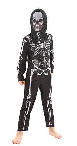 Da Donna Scheletro Halloween Catsuit Costume Vestito Taglia 10-12