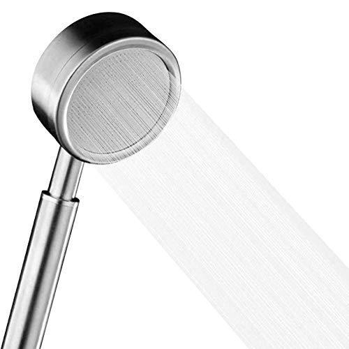 LEYUANA 304 Space Aluminium Duschkopf, Baddruckverstärker Wassersparender Duschkopf Technisches Isolationsspray Regendüse 304stainless