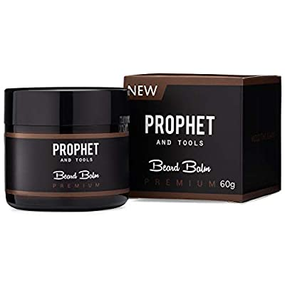 THE BEST Prophet and Tools 2 IN 1 Beard Balm and Wax Styler FOR MEN! Softens Beard Hairs and Mustache, Adds Mild Hold, Shine Booster and Healthier Beard Growth!