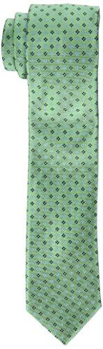 Tommy Hilfiger mens Core Neat Ii neckties, Green, Regular US